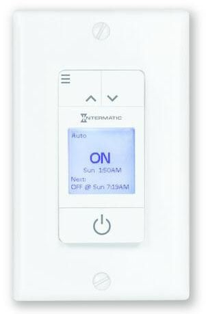 INT ST700W Ascend 15 Amp 7-Day Indoor Programmable In-Wall Timer Auto DST and Astro ON/OFF White