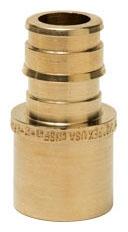 "Sioux Chief PowerPEX® 3/4"" x 3/4"" Brass Adapter, ASTM F1960 PEX Grip x Female Soldered, Lead-Free"