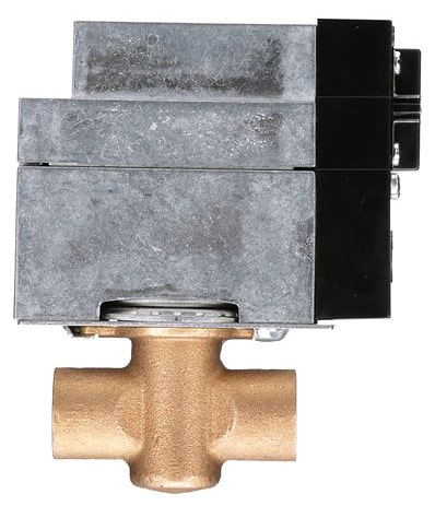 "White-Rodgers Hydronic Zone Valve, NC 3 Wire Power Open and Closed, 24 VAC .4 A, Screw Terminal Block,  1"" Soldered, 37 Cv, 15 PSI Close Off, 2 AMP 24 V End Switch"