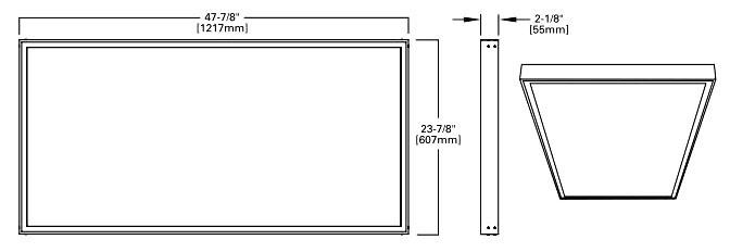 LED Flat Panel Light Fixture Surface Mount Kit