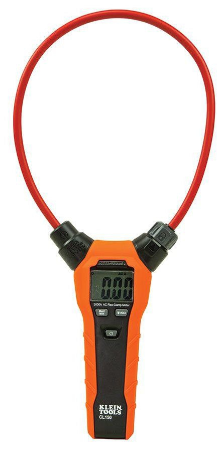 "KLEIN CL150 Flexible AC Current Clamp Meter 18"" clamp for up to 3,000 Amps"