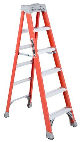 LOU FS1506 6ft F-GLASS Step Ladder TYPE 1A 300LB Rated