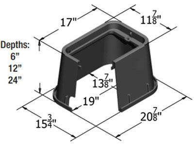 CARSON 1419-1011 GREEN HDPE 14X19-IN OPENING GRN 12-IN BODY AND GRN B/D COVER *ELECTRIC*