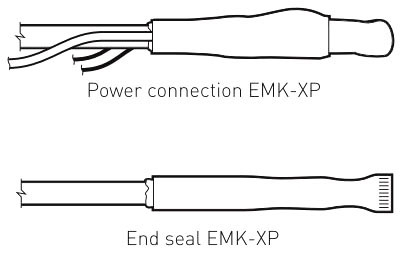 RAY EMK-XP RAY COMMERCIAL SNOW MELTING CABLE POWER CONN/ END SEAL KIT