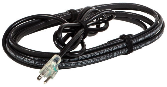 RAY FG1-24P RAY FROSTGUARD 24' 120V 6W/FT @ 40F PREASSEMBLED SELF-REGULATING HEATING CABLE W/6' COLD LEAD & LIT 3-PRONG PLUG