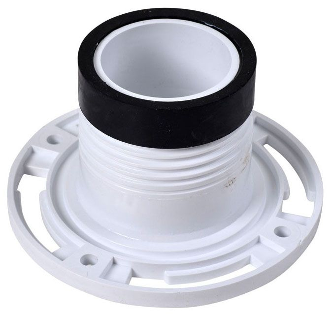 "Oatey Twist-N-Set® Closet Flange for Toilet, 4"", White, PVC"