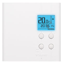 ste STE402PWB+ STELPRO MULTIPLE PROG. ELECT. THERMOSTAT BAKCLIGHTED 4000W