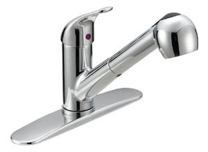 OMNI SNGL LVR KIT SINK FAUCET W/PULLOUT