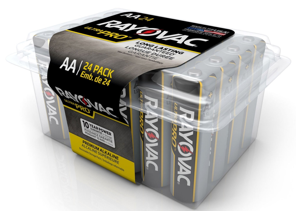 AA Alkaline Batteries - 24 Pack