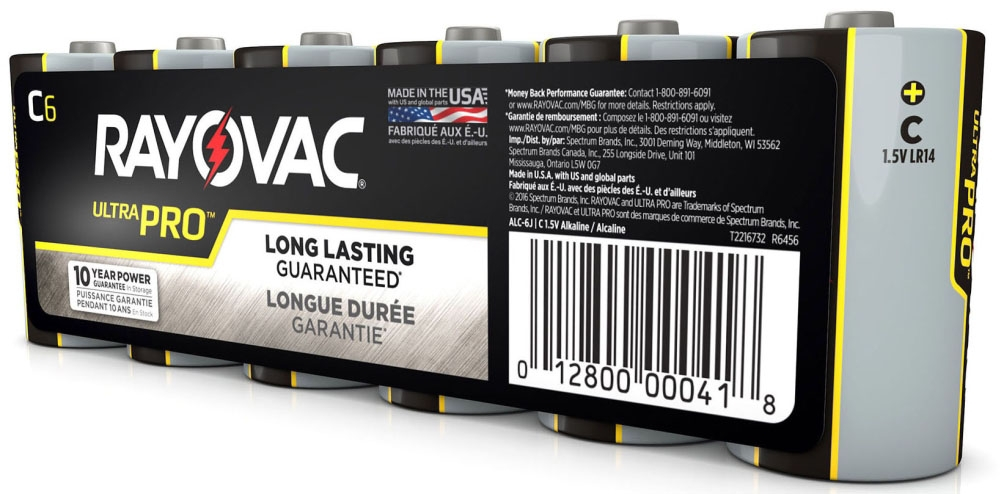 C Alkaline Batteries 6 Pack