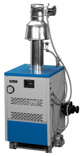 """Slant Fin Gas-Fired Boiler, 1-1/4"""" NPT Supply/Return, 120 VAC 60 Hz 1-Phase, 87 MBH, 84% AFUE, Cast Iron, Electronic Ignition, Natural"""