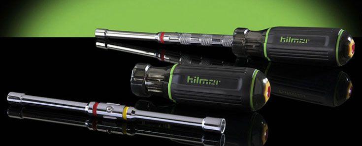 "Hilmor Magnetic Nut Driver Set, 1/4"" and 5/16"" Drive, 6"" L Shaft, Chrome Vanadium Steel, Hollowed Shaft, Quick-Change"