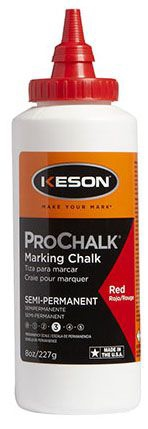Marking Chalk-Red 8oz Prochalk (Keson) - Marking Supplies