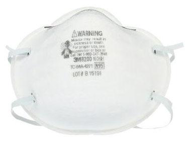 Respirator-3m 8200 N95 20/Box - Respirators & Dust Masks