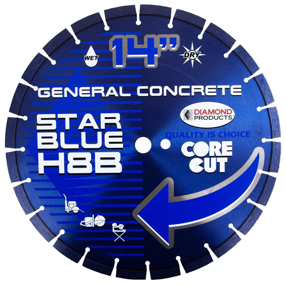 Diamond Blade-14in x .125 Dry Cut Gen - General Purpose