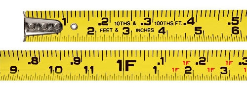 Measuring Tape-33 ft ft/in & tenths - Measuring Tools