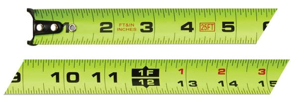 Measuring Tape-25ft ft/in Ultra Bright - Measuring Tools