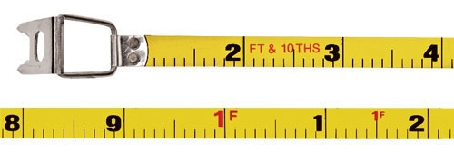 Measuring Tape-100ft Steel Blade FT/10th - Measuring Tools