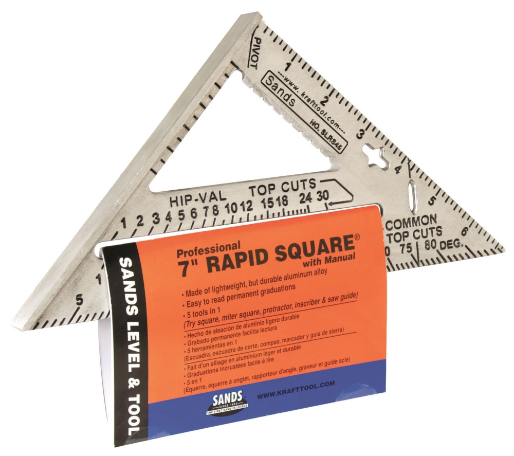 Rapid Speed Square 7in w/ Manual - Measuring Tools