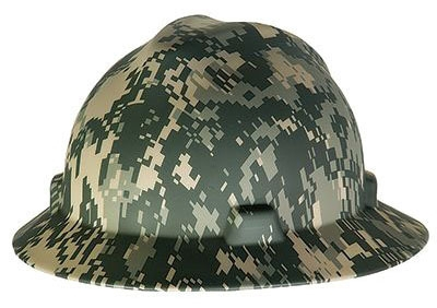 Hard Hat-Full Brim Camo Type 1 - Head, Eye & Face
