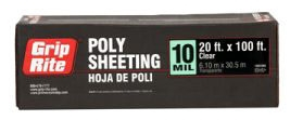 Poly- 10 Mil Clear 20 ft x 100 ft - Concrete Forming & Accessories