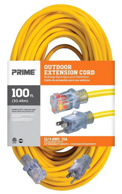 Extension Cord-12/3 x 100ft Lit End - Extension Cords