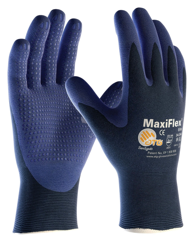 MicroFoam Grip Gloves Seamless Medium - Gloves