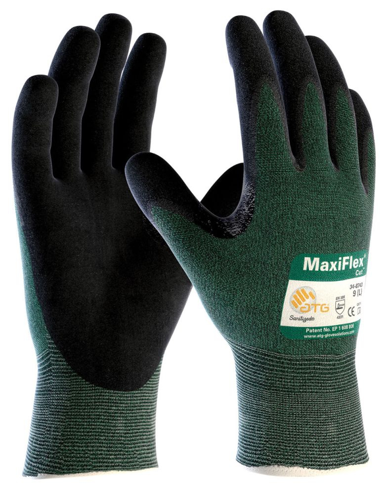 Glove-Nitrile Coated Palm Large - Gloves
