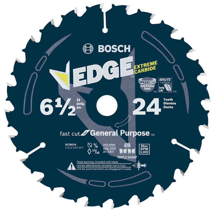 Saw Blade-6-1/2in x 24T Bosch - Blades