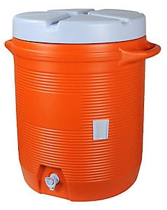 10 Gallon Gott Cooler - Orange - Safety Products