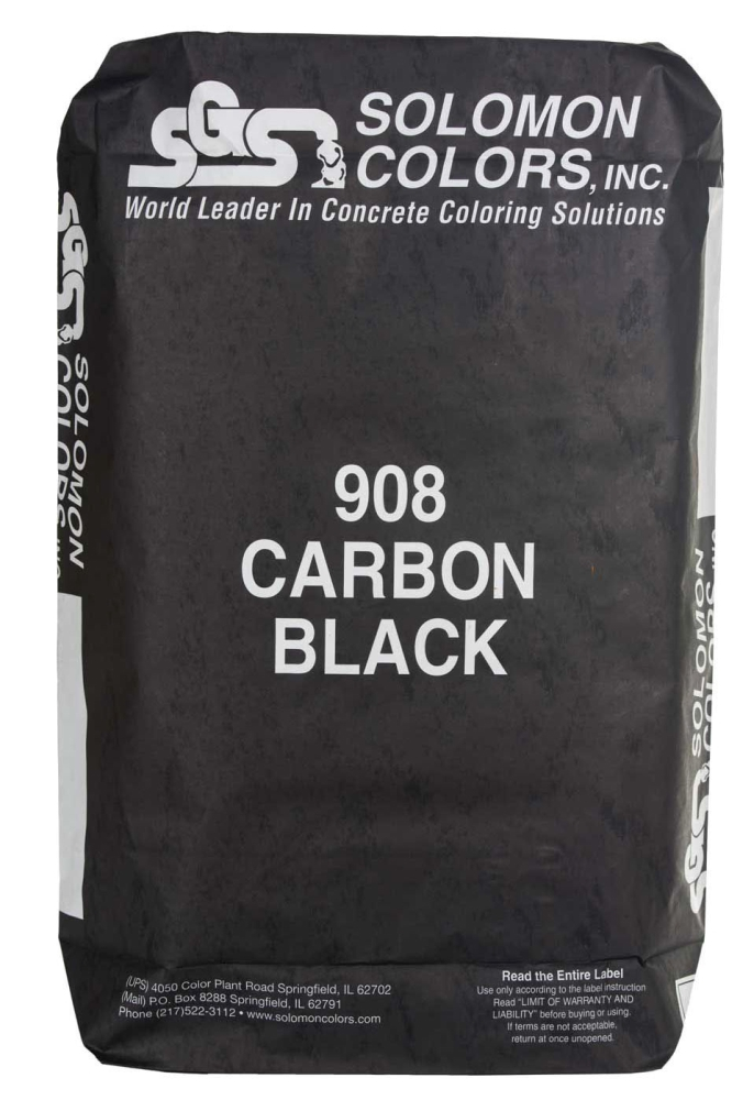 #908 Ultra Black Color-25lb Bag - Decorative Concrete Products