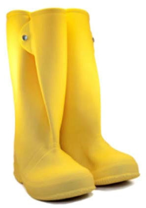 Over The Shoe Boot-8 (16in Yellow) - Footwear