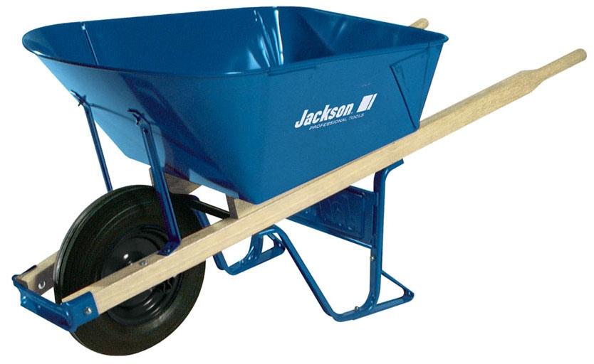 Wheelbarrow-Jackson 6cf Folded Steel Tra - Material Handling & Steel Strapping