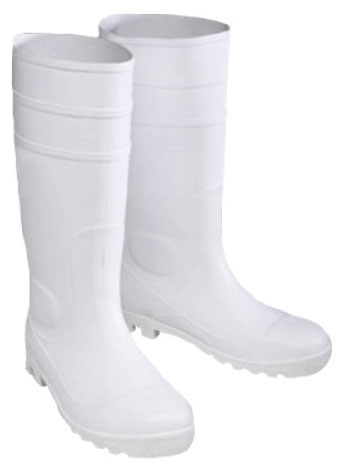 16 in White Slip On Boots Size 8 - Footwear
