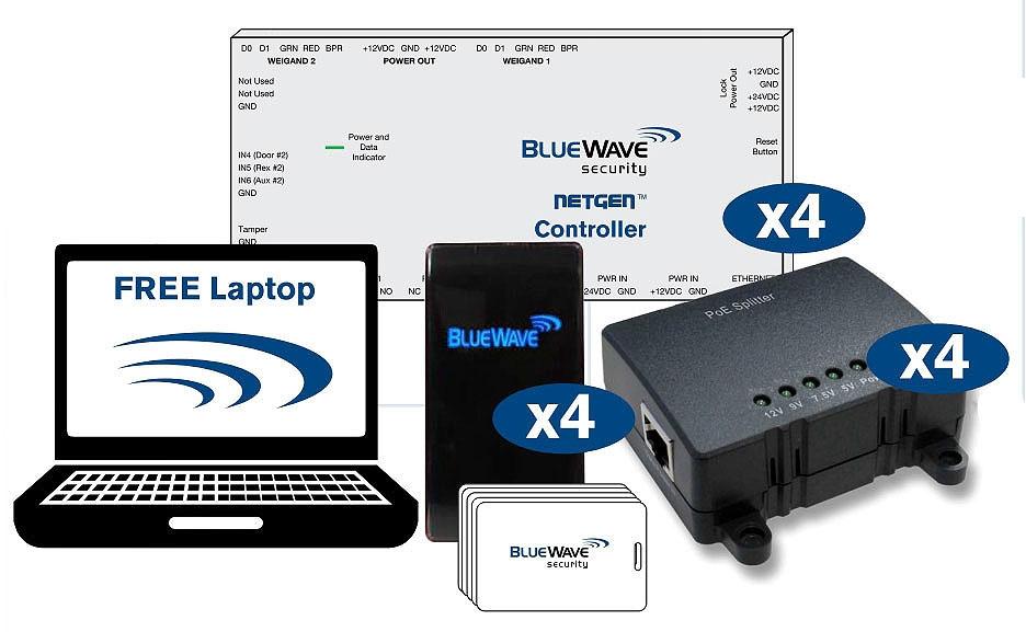 BlueWave 4 Door Controller Kit w/ PoE