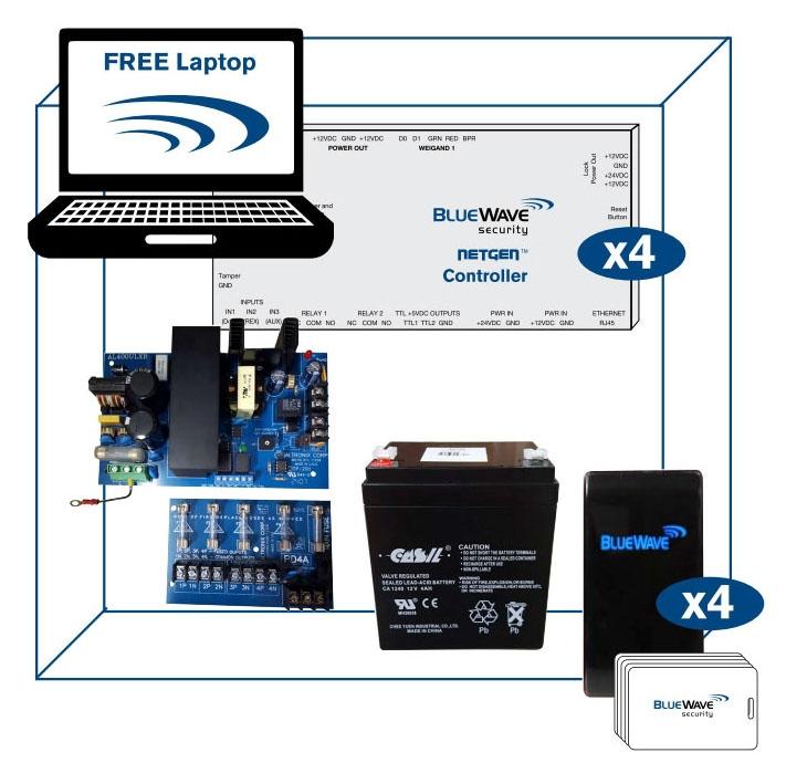 BlueWave 4 Door Controller Kit w/ PS