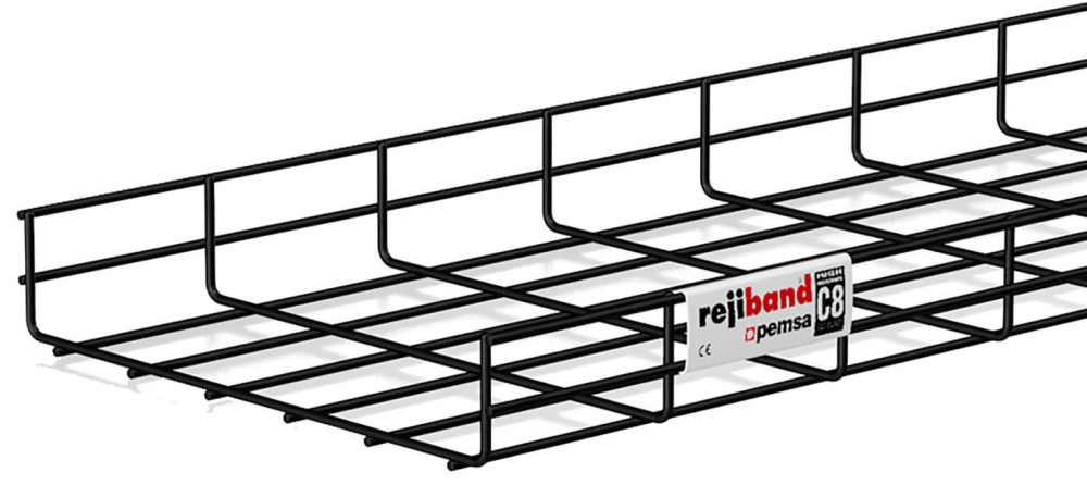 Pemsa 12in X 2in Cable Tray, Black, 10ft