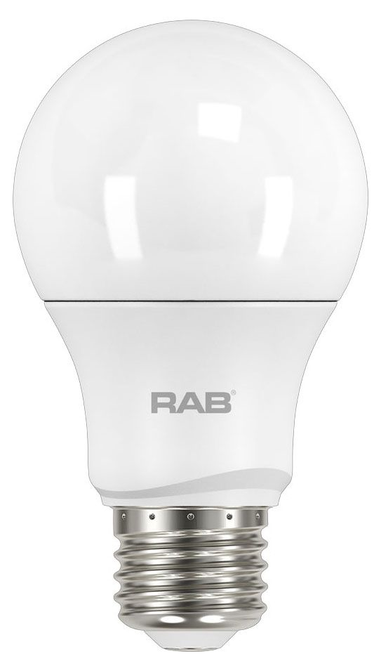 RAB A19-10-E26-850-DIM RAB A19 10W 5000K 840 LUMEN MED BASE DIMMABLE LED LAMP