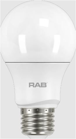 RAB A19-15-E26-830-DIM RAB A19 15W 3000K 1600 LUMEN MED BASE DIMMABLE LED LAMP