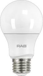 RAB A19-9-E26-830-ND RAB A19 9W 3000K 800 LUMEN MED BASE NON-DIMMABLE LED LAMP