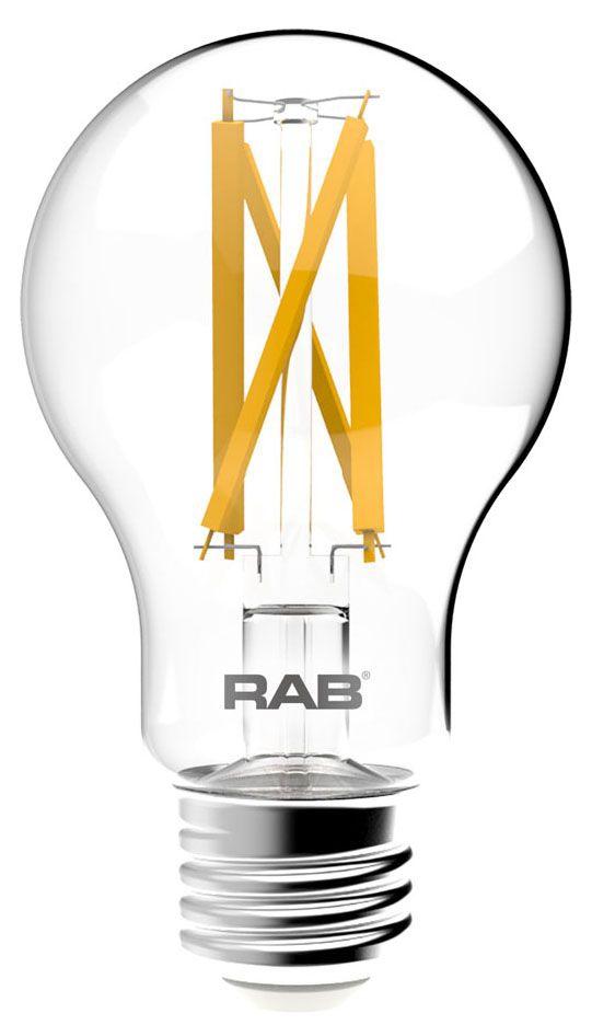 RAB A19-9-E26-927-F-C RAB 9W A19 2700K 810 LUMEN MED BASE DIMMABLE VINTAGE LED LAMP