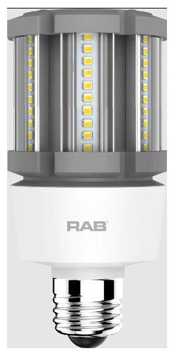 RAB HID-12-E26-840-BYP-PT RAB LED 4000K 1750 LUMEN MED BASE 100-277V LAMP (REPLACES 50W HID)