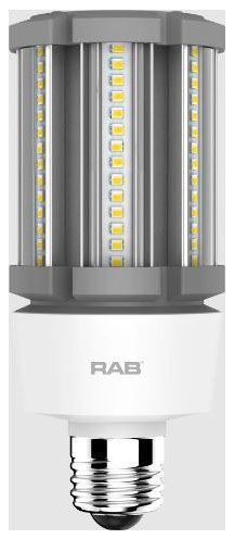 RAB HID-18-E26-840-BYP-PT RAB LED 4000K 2600 LUMEN MED BASE 100-277V LAMP (REPLACES 70W HID)