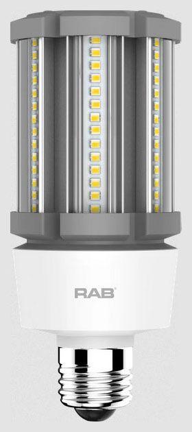 RAB HID-18-E26-850-BYP-PT RAB LED 5000K 2600 LUMEN MED BASE 100-277V LAMP (REPLACES 70W HID)