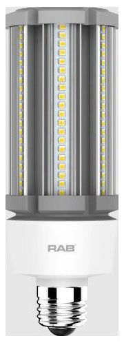 RAB HID-27-E26-840-BYP-PT RAB LED 4000K 3900 LUMEN MED BASE 100-277V LAMP (REPLACES 125W HID)