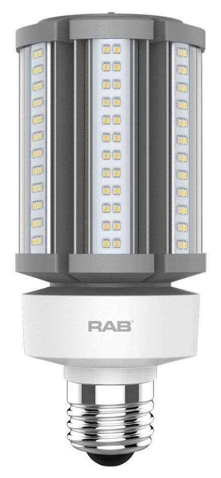 RAB HID-36-E26-830-BYP-PT RAB LED 3000K 5000 LUMEN MED BASE 100-277V LAMP (REPLACES 150W HID)