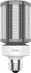 RAB HID-36-E26-850-BYP-PT RAB LED 5000K 5400 LUMEN MED BASE 100-277V LAMP (REPLACES 150W HID)