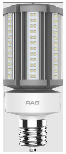 RAB HID-36-EX39-840-BYP-PT RAB LED 4000K 5400 LUMEN MED BASE 100-277V LAMP (REPLACES 150W HID)