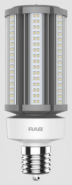 RAB HID-45-EX39-850-BYP-PT RAB LED 5000K 6800 LUMEN MOG BASE 100-277V LAMP (REPLACES 175W HID)
