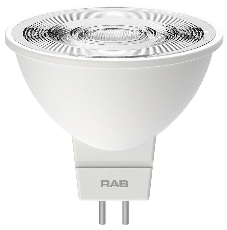 RAB MR16-6-830-35D-DIM RAB 6.5W MR16 3000K 450 LUMEN 35DEG 12V DIMMABLE LED LAMP